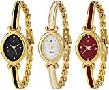 Swadesi Stuff Analogue Multi-Colour Dial Luxury Bangle Watch for Women Combo of 3 (patti 3 watch)