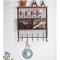 popa Retro Ferro battuto industriale Stile creativo Parete attrezzata Mensola Appendiabiti decorazione della parete della decorazione della casa Hook Up risparmio energetico