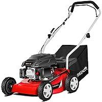 Greencut GLM660SX Cortacésped Tracción Manual, Motor Gasolina, 3600 W, 220 V, Rojo, 40 cm