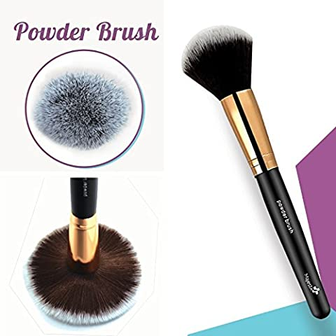 Large Powder Brush- Professional Foundation Makeup Brush for Blending Liquid, Cream & Mineral Cosmetics or Translucent Powder - Flawless Airbrush Application - Synthetic Bristles - Vegan Friendly - High Quality Essential Accessory for Beautiful Finish Look