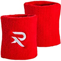 Raquex Pair of Cotton Wristbands - Sweat bands made specifically for squash and racket / racquet sports. Suitable for squash, tennis, badminton use. Cotton stretchy material, snug fit. Designed by an ex-England squash player. High quality material. Raquex - The Racquet Experts.