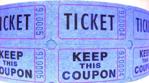 59005 rosso 1 pezzo red Keep One ticket roll bianco 1/rotolo di 2000/biglietti PM Company doppio deposito One