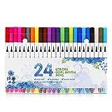 Reaeonat Daul Tip Brush Marker Pens, Dual Brush Fine Point Pen for Adult
