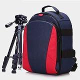 Unbekannt Kamera-Rucksack-Gehäuse Wasserdicht Stoßfest Tragen Auf Gepäck Beutel, Stativ-Tasche, Reise-Laptop-Rucksack Passt 14 Zoll Laptop-Rot