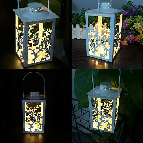 LED-Licht,TwoCC Gebürstet Jahrgang 20 LED Licht Fee Licht Hängen Laterne Innen Außen Dekor -