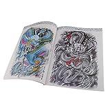 MagiDeal 60 A4 Pages Livre des Tatouage Livre de Croquis Oriental Dragon Tattoo Référence Book