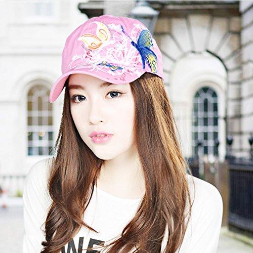Belsen filles papillon paillettes Princesse Cap Baseball chapeaux adulti rosa