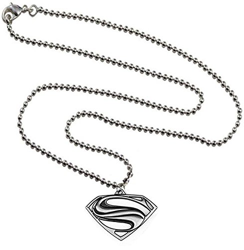 Oyshome Superhero Superman Necklace Locket Jewellery w/ Ball Chain for all