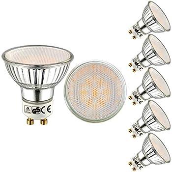 EACLL - Bombillas LED GU10 5W Equivalente a Halógena De 50W, Luz Blanca Cálida 2700K 470 LM Lámpara LED, Pack de 5
