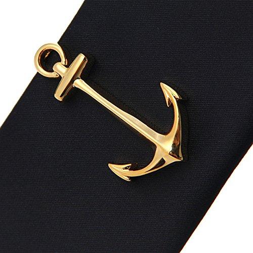 ifsong Hombres casamos con corbata y oro–Ancla personalidad krawattennadel regalo–Caja