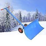 ZDYLM-Y Spazzaneve Manuale con Ruote, Pala per spazzaneve a Rotazione Strumento per la rimozione della Neve, per vialetto sulla Porta