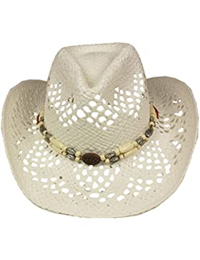 Silver Fever modischer Ombre gewebter paja sombrero de cowboy con recortados y perlas