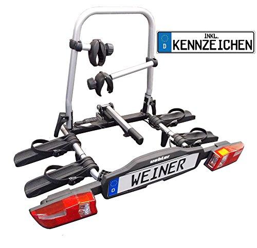 Uebler Alu-Fahrradheckträger faltbar F22 für 2 Fahrräder 15820 mit Kennzeichen (bitte bei Kauf mitteilen!)