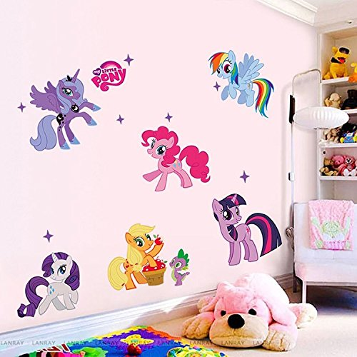 Price comparison product image My Little Pony Removable Vinyl Wall Sticker Mural Decal Art Home Decoration