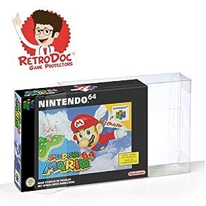 10 Klarsicht Schutzhüllen Nintendo 64 [10 x 0,3MM N64 OVP] Spiele Originalverpackungen Passgenau Glasklar