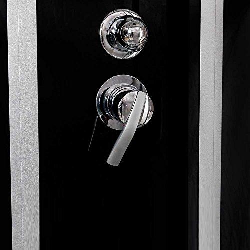 TroniTechnik Dampfdusche Duschtempel Whirlpool Badewanne Komplettdusche Duschkabine Dusche 170x90 schwarz - 5