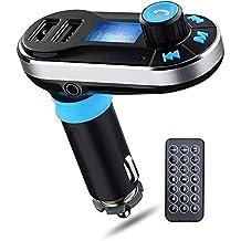 perbeat BT66Wireless Bluetooth Car Kit vivavoce Trasmettitore FM Radio Adapter Caricabatteria da auto doppia USB Lettore MP3supporto Micro SD Card USB Flash Disk per Smart Phone, Iphone, Ipad, ecc.