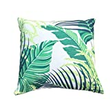 Clara Kissen Tropical Outdoor Garten Scatter Kissen palm leaf wasserabweisend Jungle rainforest dekorative faux Leinen