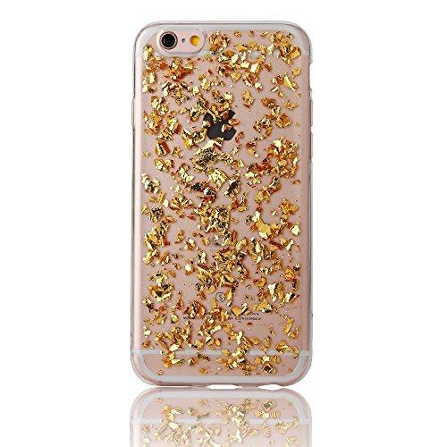 Bubblegum® für iPhone Modelle Shattered Glitzer Gel weich Hülle–Mit echtem Bubblegum Tasche, gold, iPhone 7 PLUS 7s+ gold