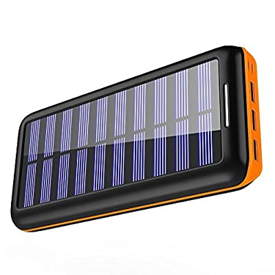 Solar Charger KEDRON Portable Charger 22000mAh External Battery Pack with Dual Input Port & 3 USB Output Power Bank Battery Charger for iPhone, iPad, Samsung Galaxy, Android Phones and Other Devices
