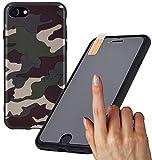 Favory Camouflage Design TPU Silicon Hülle für iPhone 7 Tasche Case Schutzhülle Cover inkl. Panzer Folie Glas 9H Härtegrad Shop