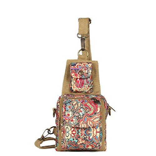 Pack de poitrine/Incline sac à bandoulière/Littérature diagonale paquet sur les femmes/Sac en toile-B B
