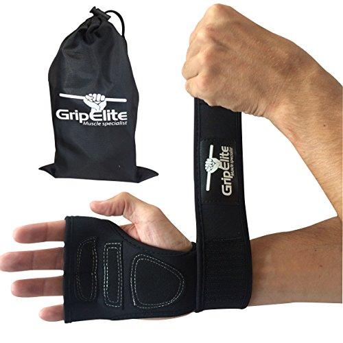 GripElite Muscle specialist Crossfit Handschuhe mit Handgelenkstütze, Schutz für Finger und Handfläche - Gewichtheber Handschuhe, Sporthandschuhe, Cross-Training und Bodybuilding - Damen und Herren