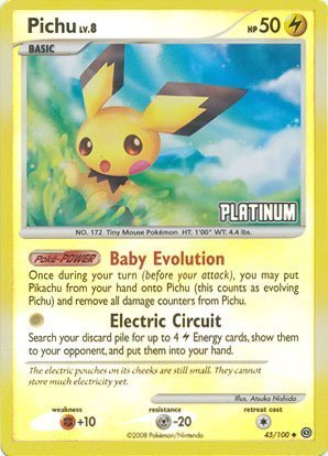 pokemon-burger-king-rare-collectible-card-platinum-pichu-holo-45-100-by-pokemon-usa