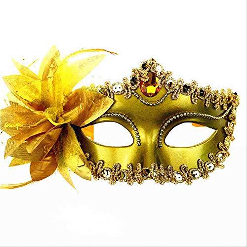 Golden Flower Maske - TERROR PARTY Halloween Feather Big Lily