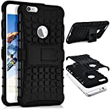 ONEFLOW iPhone 6S Plus   Hülle Silikon Hard-Case Schwarz Outdoor Back-Cover Extrem Stoßfest Schutzhülle Grip Handyhülle für iPhone 6 Plus / 6S + Plus Case Rückseite Tasche