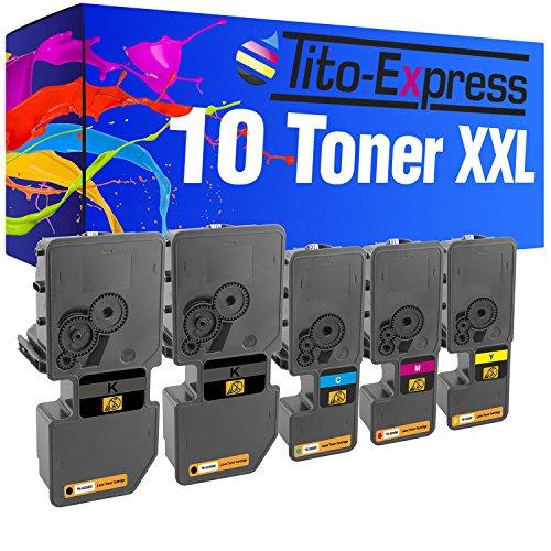 Tito-Express PlatinumSerie 10x Toner-Kartusche XXL passend zu Kyocera TK-5230 ECOSYS M5521 P5021 CDW M5521 P5021 CDN M 5521CDW 5521CDN P 5021CDN 5021CDW 1T02R90NL0 1T02R9CNL0 1T02R9BNL0 1T02R9ANL0 -