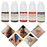 Tattoo Pigment, 5Pcs Semi-Permanent Makeup Ink Colore per Eyebrow Lips Eye Line (5pcs)