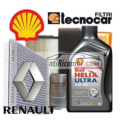 shell tecnocar Renault Clio III 1.2 TCE Kit Cambio Olio e Filtri