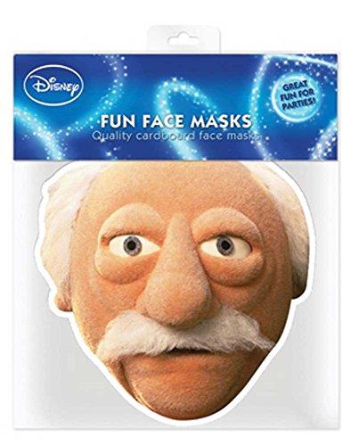 Muppets Waldorf - Papp Maske, aus hochwertigem Glanzkarton mit Augenlöchern, Gummiband - Grösse ca. 30x20 cm