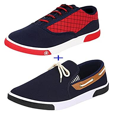 Super Men Combo Pack of 2 Casual Shoes with Loafer & Moccasins (10 UK)