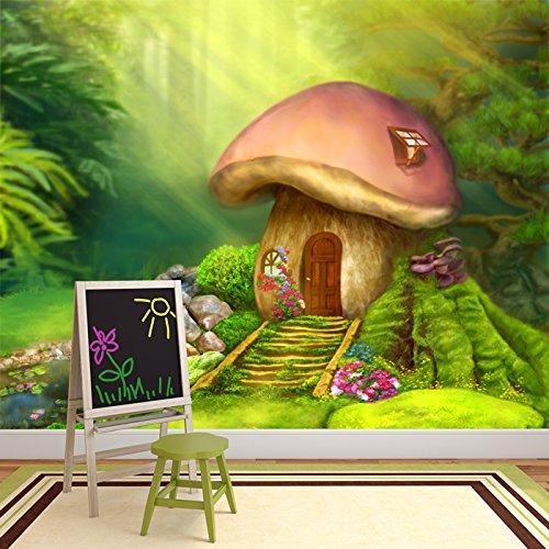 *azutura Feenwaldhaus Wandbild Märchen Foto-Tapete Mädchen Kinderzimmer Wohnkultur Erhältlich in 8 Größen Riesig Digital*