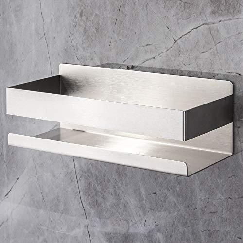 YIGII Duschablage Ohne Bohren Duschregal Edelstahl Bad Duschkorb Selbstklebend für Badezimmer