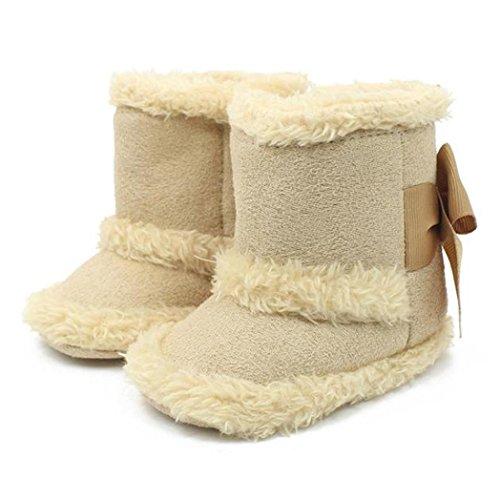 BZLine® Warme Baby Schneestiefel weiche Sohle winterstiefel mädchen Beige
