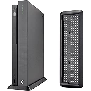 Black vertical stand for Xbox One X console (not suitable for Xbox One and Xbox One S console).