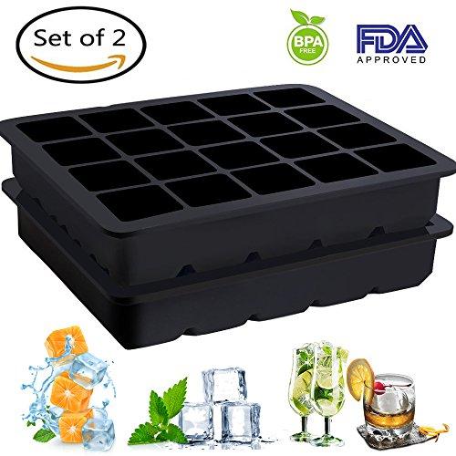 Eiswürfelformen, YECO Silikon Eiswürfelformen, 2er Set–2.5cm Würfel Eiswürfel ,Chill Eiswürfelform,Eiswürfelbereiter, Silikonform ohne BPA.