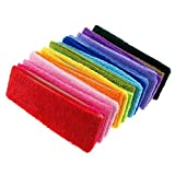 InnoLife Fashionable Gym Workout Women's Yoga Soft Cotton Stretchy Headbands Sweatbands Sports Indoor Outdoor Yoga Dance Exercise Fitness Headbands (15Pcs Mixed Colors)