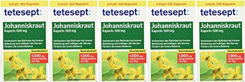 tetesept Johanniskraut Kapseln 500 mg – Kapseln zur Stabilisierung bei innerer Belastung -...