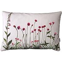 rosa Wiesenblumen, Kissenbezug,