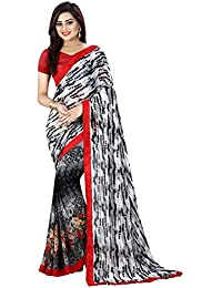Macube Women's Georgette Saree With Blouse Piece (Ms1422_25_Multi Coloured)