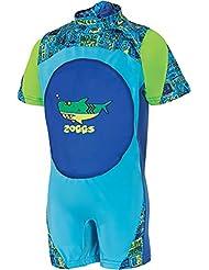 Zoggs Jungen Deep Sea Swimfree Schwimmhilfe Floatsuit Blau 1–2Jahre
