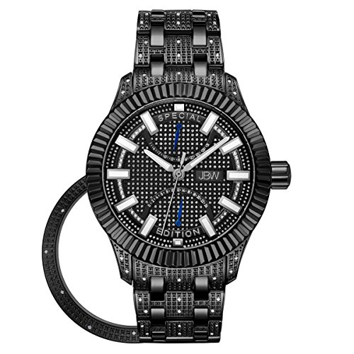 JBW Diamante Hombre Acero Inoxidable Reloj–Crowne Negro