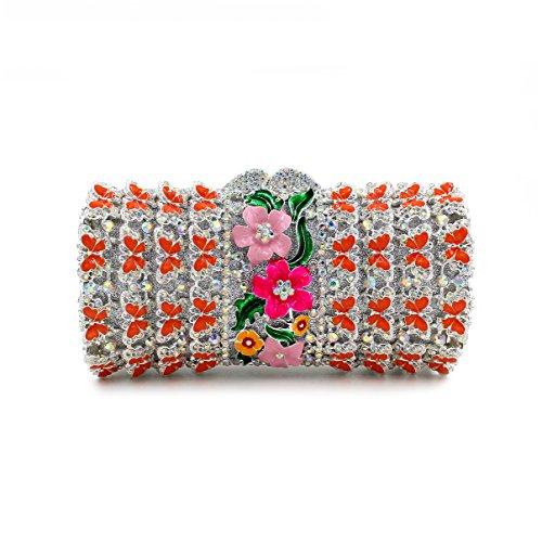 Damen Abendtasche Kristall Strass Diamanten Diamant-Armband Brauttaschen color 2