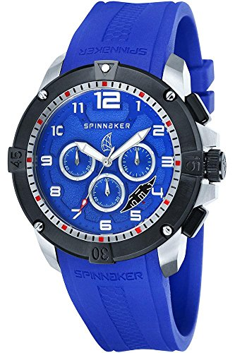 Spinnaker sp-5013-set5 – Tornado – Watch Men – Quartz – Chronograph – Blue Dial – Silicone Wristband Blue