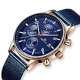 Herren Uhren Manner Militär Wasserdicht Sport Chronographen Blau Armbanduhr Mann Luxus Mode Leuchtende Analoge Datum Uhr