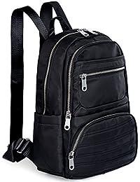 469cdb1be4b11 UTO 13.3 Inch Laptop Backpack Oxford wasserdicht Nylon Unisex Rucksack mit  Leder Schulterriemen Schule College Reise